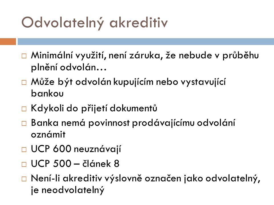 Odvolatelný akreditiv