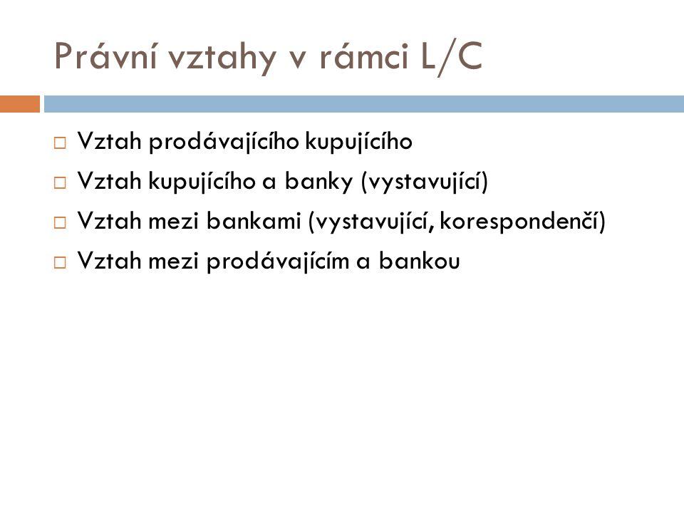 Právní vztahy v rámci L/C