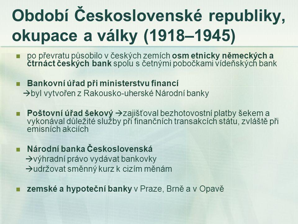 Období Československé republiky, okupace a války (1918–1945)