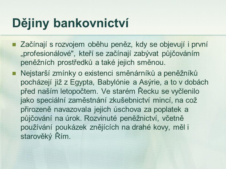 Dějiny bankovnictví