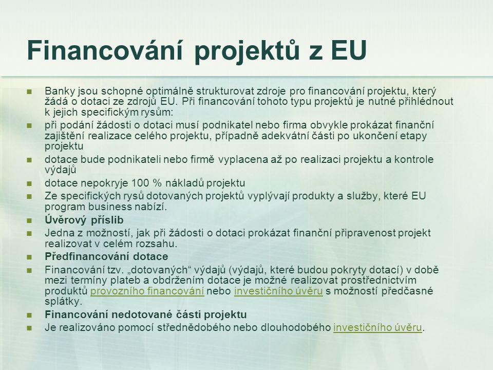 Financování projektů z EU