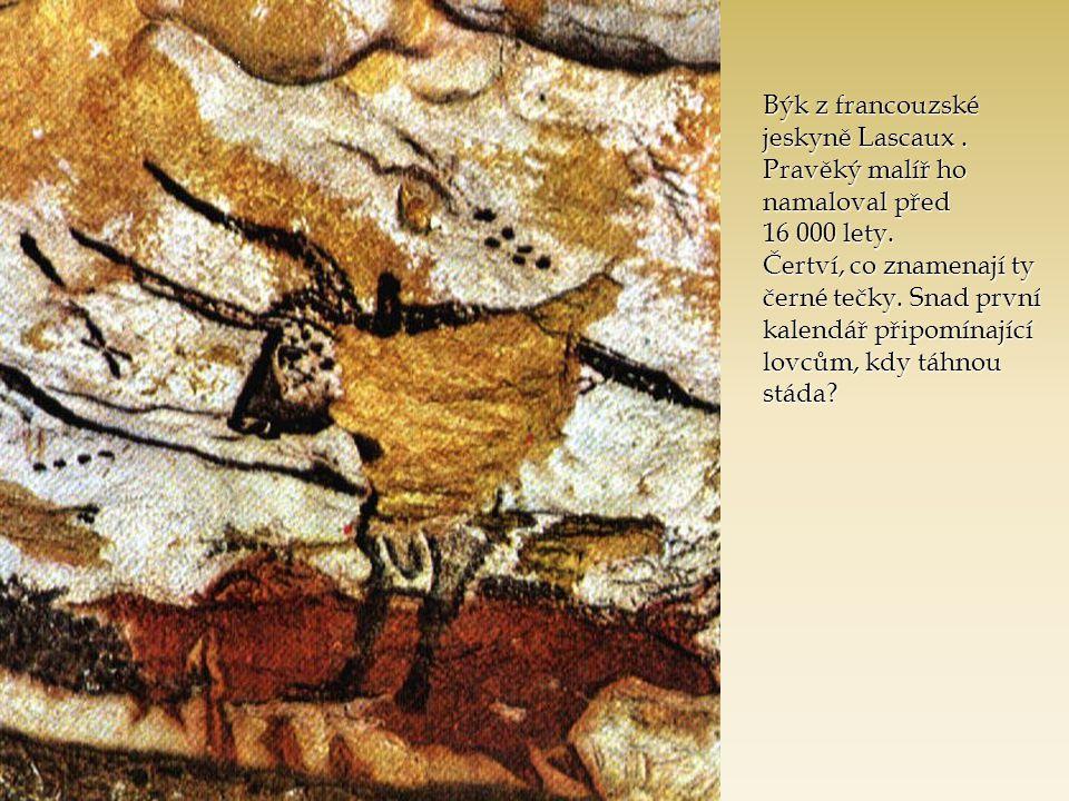 Býk z francouzské jeskyně Lascaux