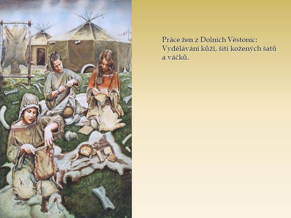 Práce žen z Dolních Věstonic: