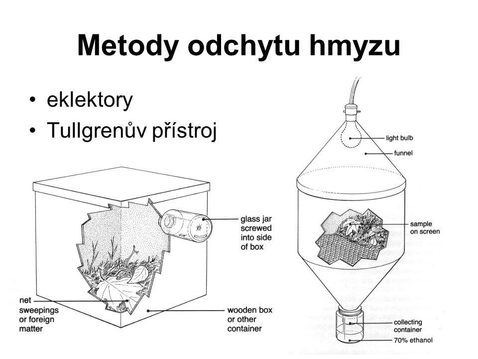 Metody odchytu hmyzu eklektory Tullgrenův přístroj