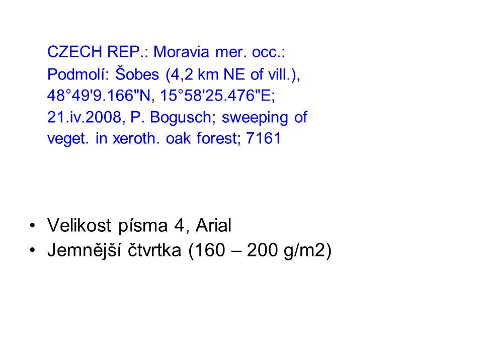 CZECH REP.: Moravia mer. occ.: