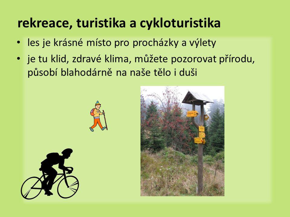 rekreace, turistika a cykloturistika