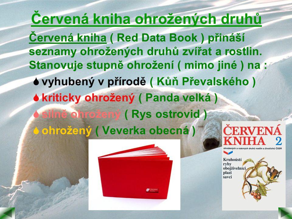 Červená kniha ohrožených druhů