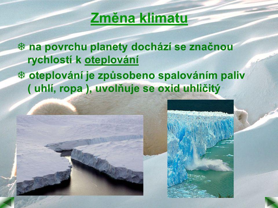 Změna klimatu  na povrchu planety dochází se značnou rychlostí k oteplování.