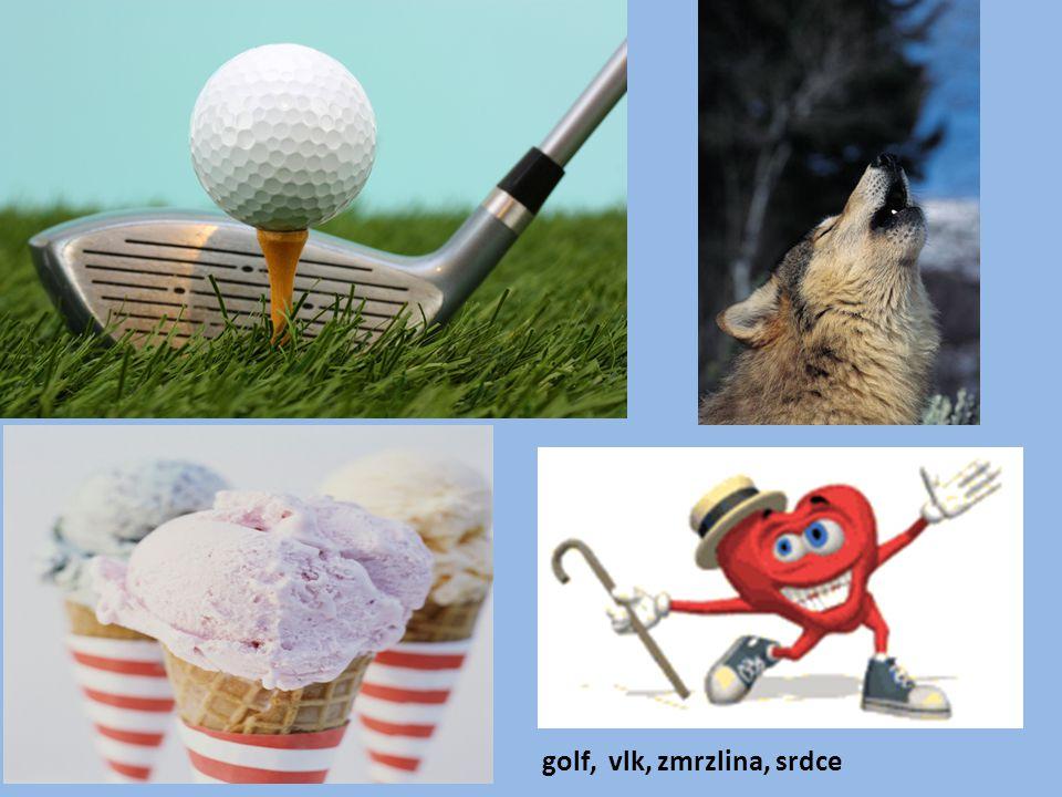 golf, vlk, zmrzlina, srdce