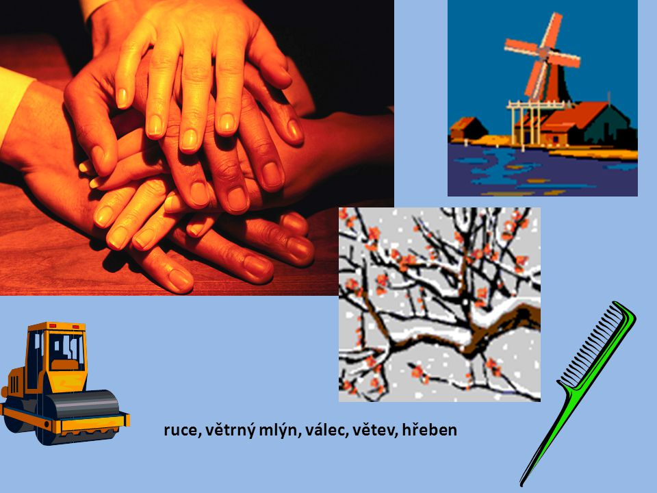 ruce, větrný mlýn, válec, větev, hřeben