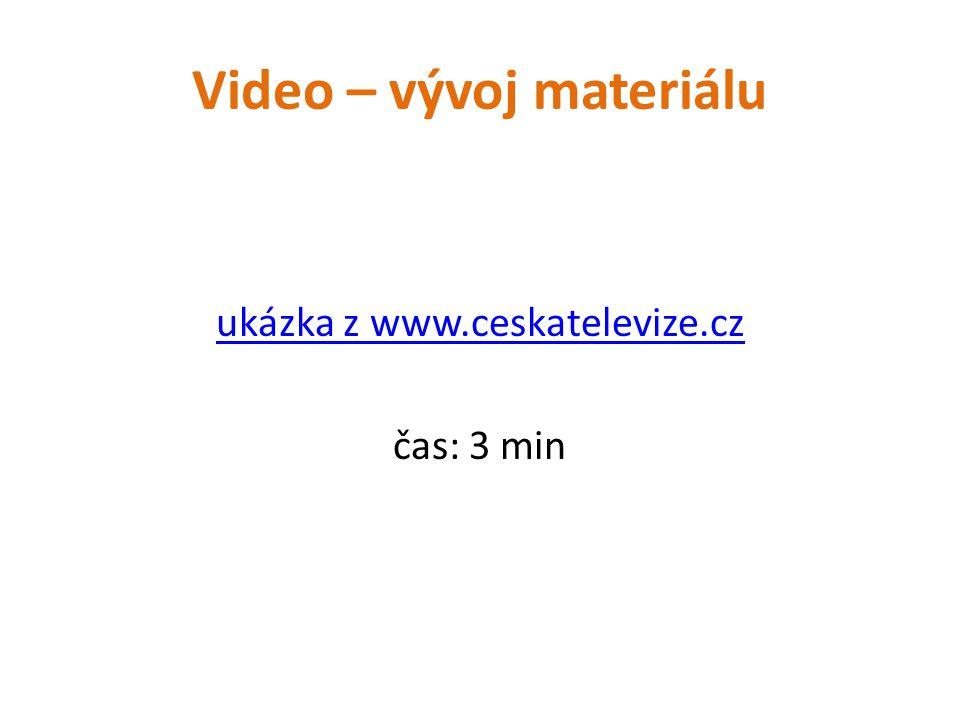 Video – vývoj materiálu