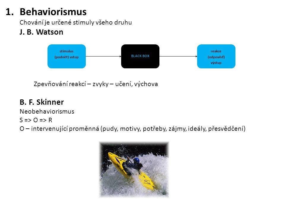 stimulus (podnět) vstup reakce (odpověď) výstup