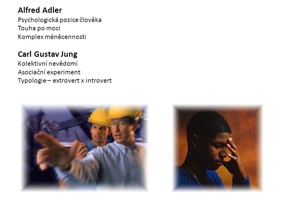 Alfred Adler Carl Gustav Jung Psychologická pozice člověka