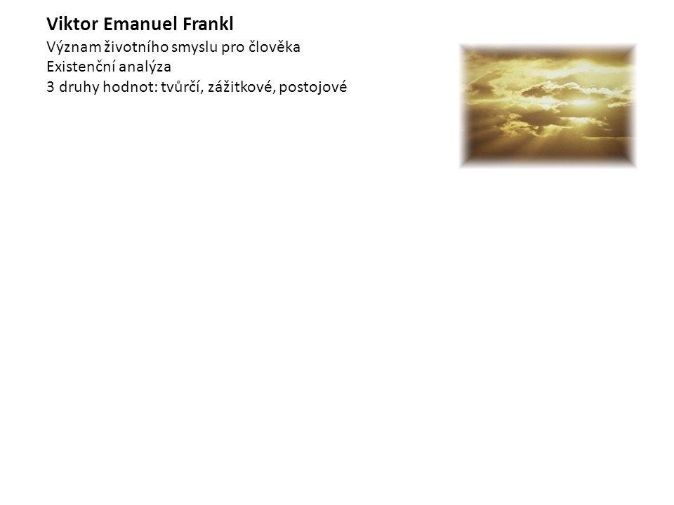 Viktor Emanuel Frankl Význam životního smyslu pro člověka