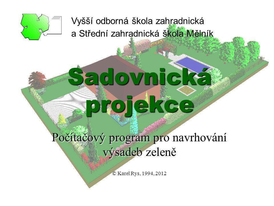 Počítačový program pro navrhování výsadeb zeleně