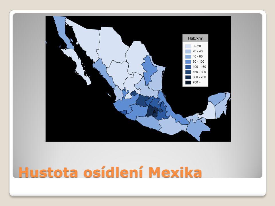 Hustota osídlení Mexika