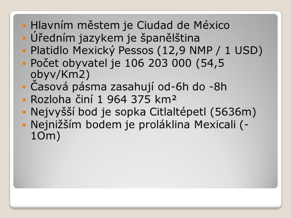 Hlavním městem je Ciudad de México