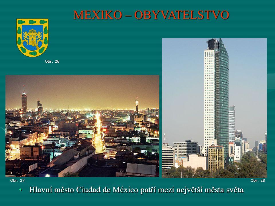 MEXIKO – OBYVATELSTVO Obr. 26. Obr. 27. Obr.