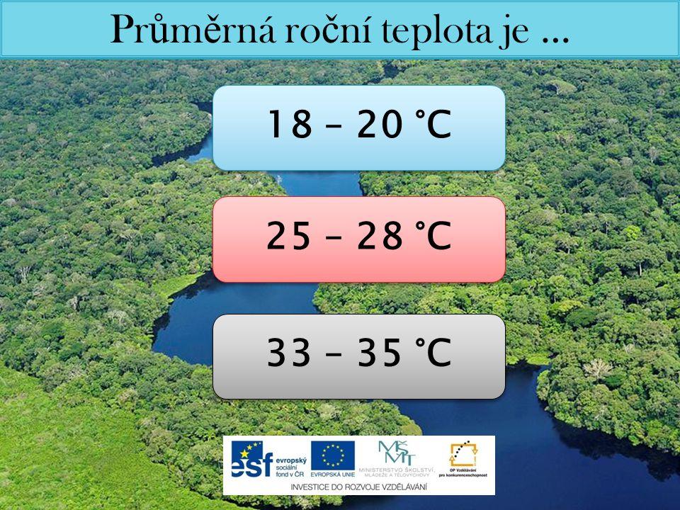 Průměrná roční teplota je …