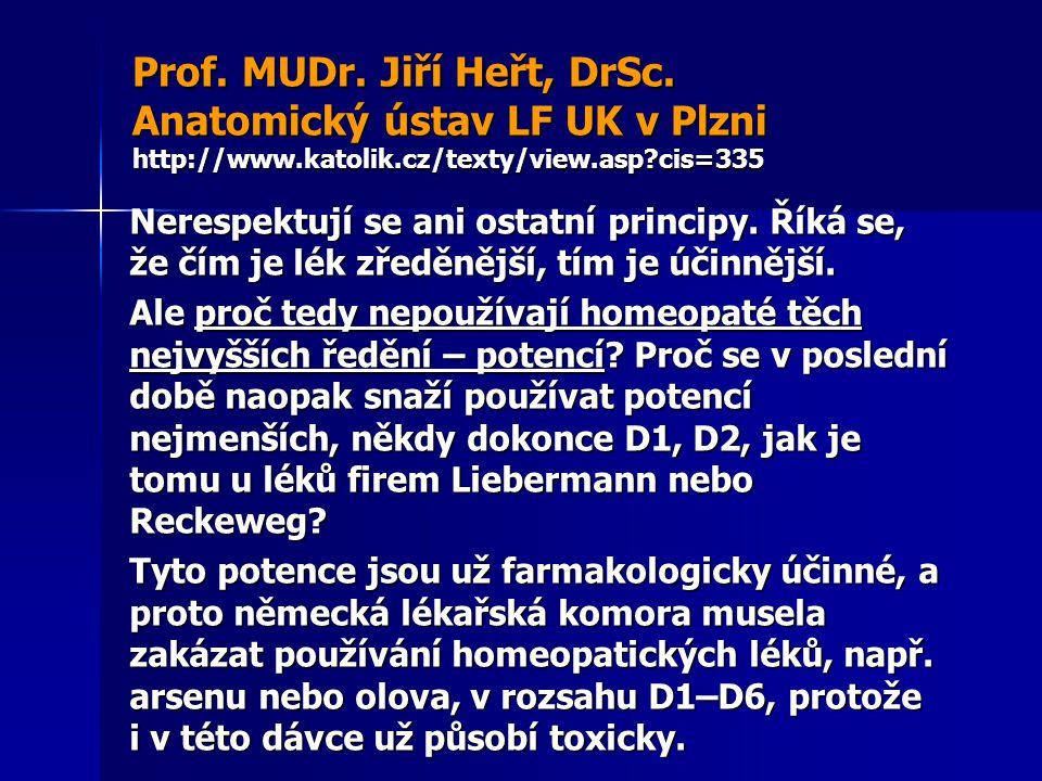 Prof. MUDr. Jiří Heřt, DrSc. Anatomický ústav LF UK v Plzni http://www