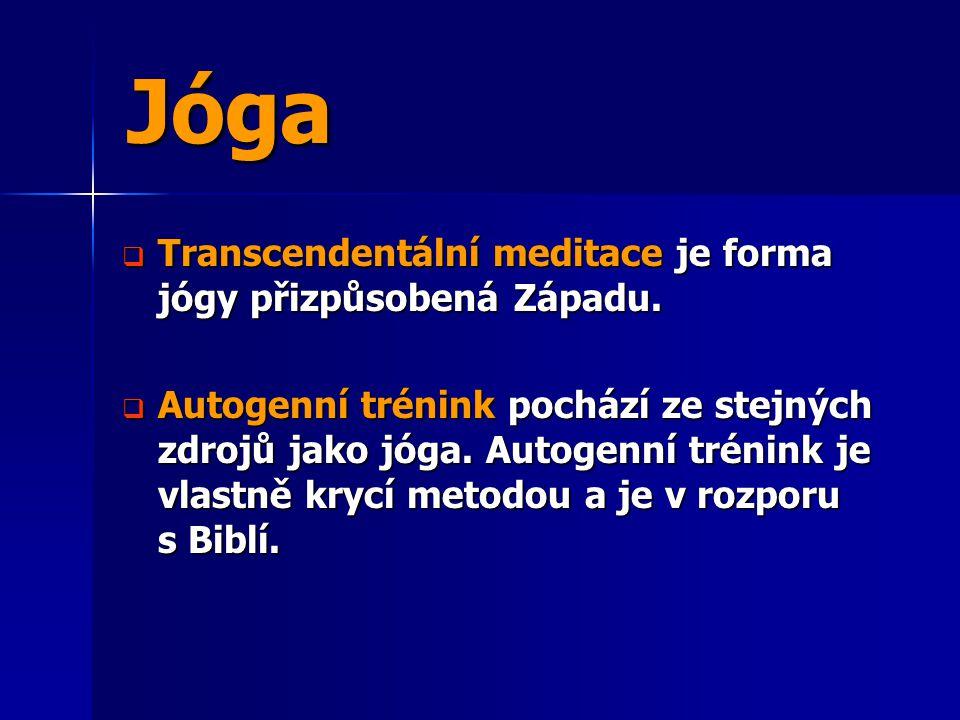 Jóga Transcendentální meditace je forma jógy přizpůsobená Západu.
