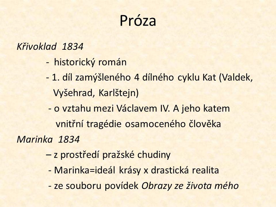 Próza Křivoklad 1834 - historický román