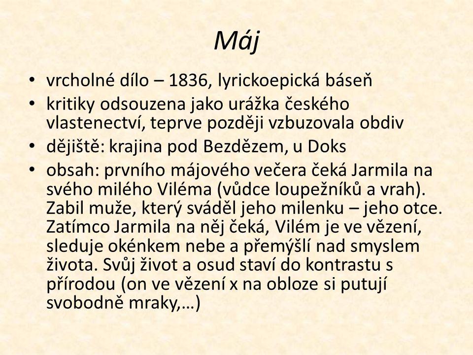 Máj vrcholné dílo – 1836, lyrickoepická báseň