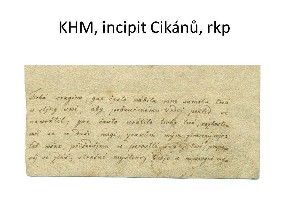 KHM, incipit Cikánů, rkp