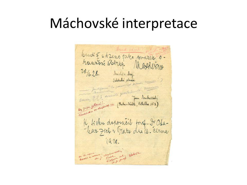 Máchovské interpretace