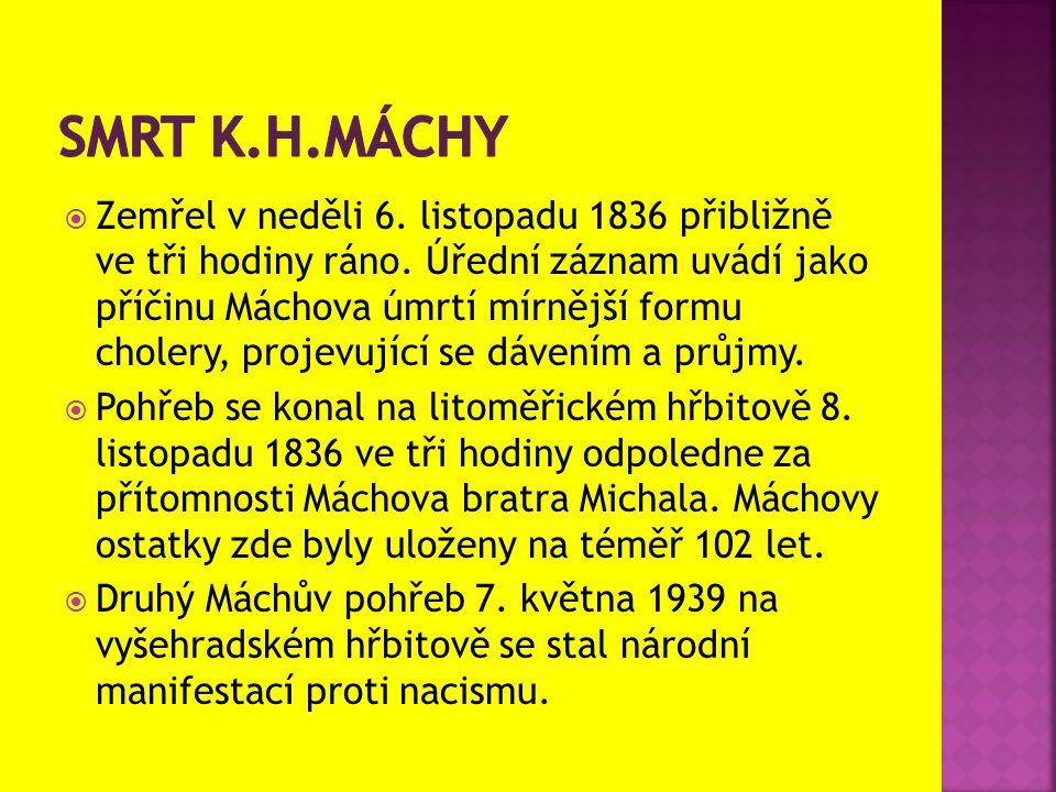Smrt k.h.máchy
