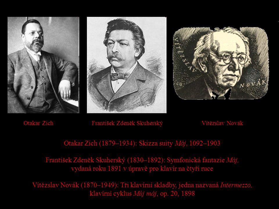 Otakar Zich (1879–1934): Skizza suity Máj, 1092–1903