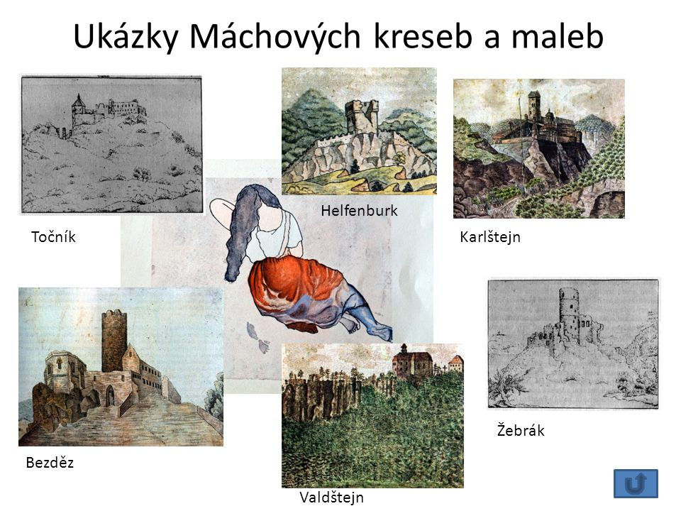 Ukázky Máchových kreseb a maleb