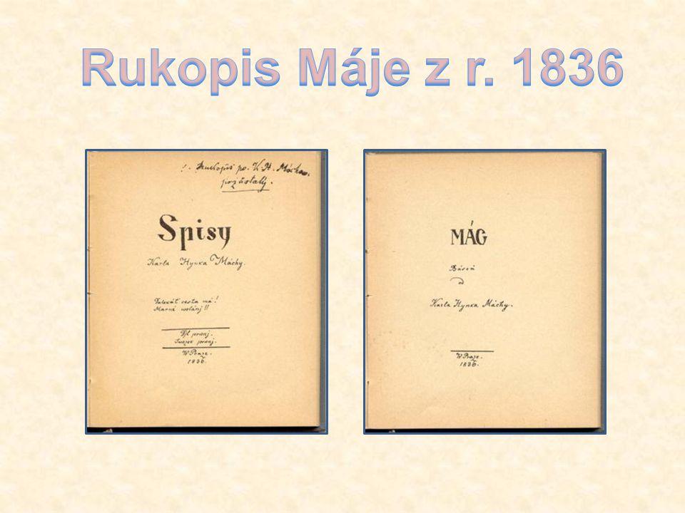 Rukopis Máje z r. 1836