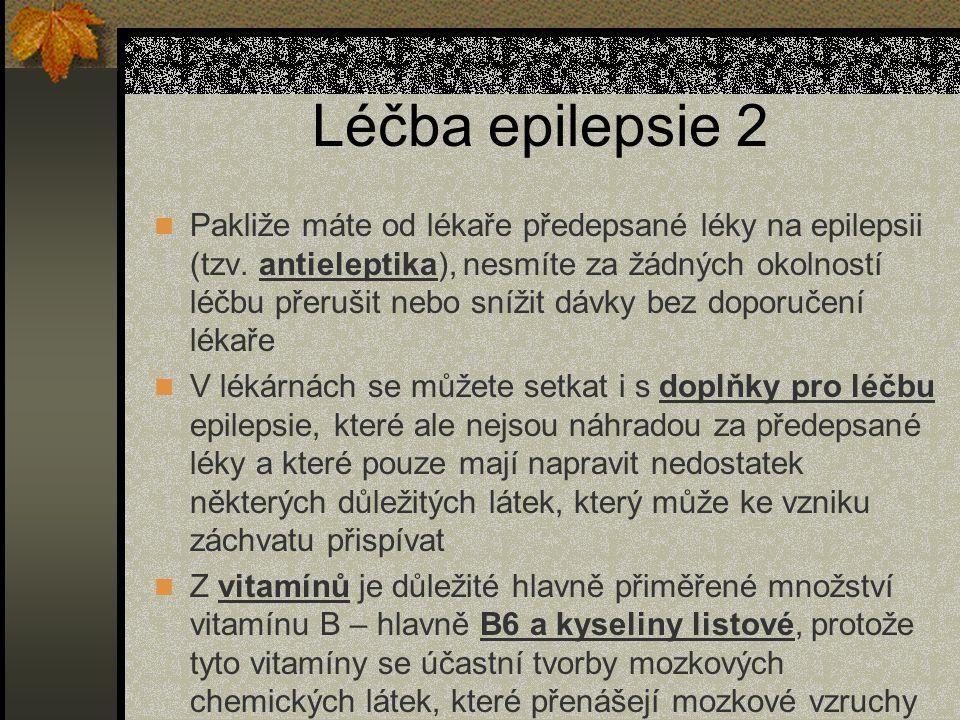 Léčba epilepsie 2