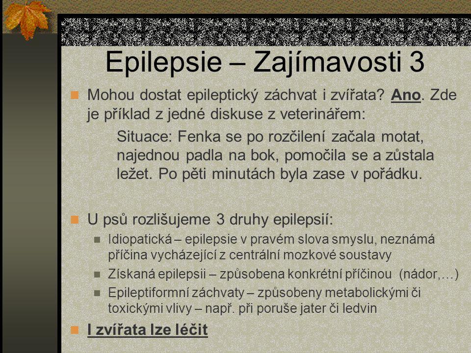 Epilepsie – Zajímavosti 3