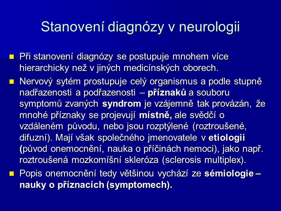 Stanovení diagnózy v neurologii