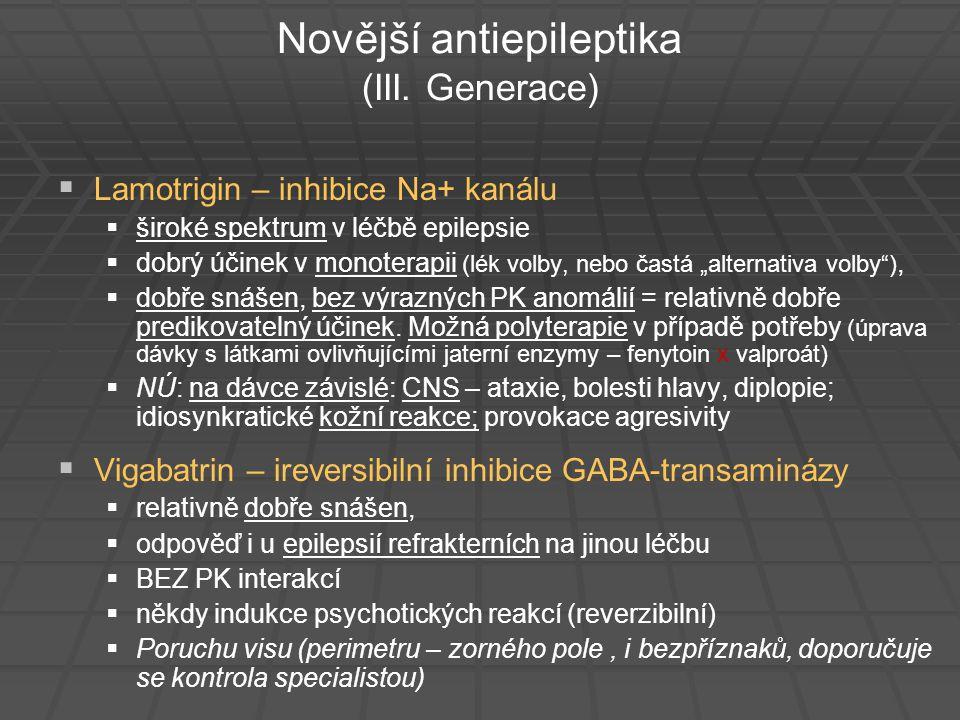 Novější antiepileptika (III. Generace)