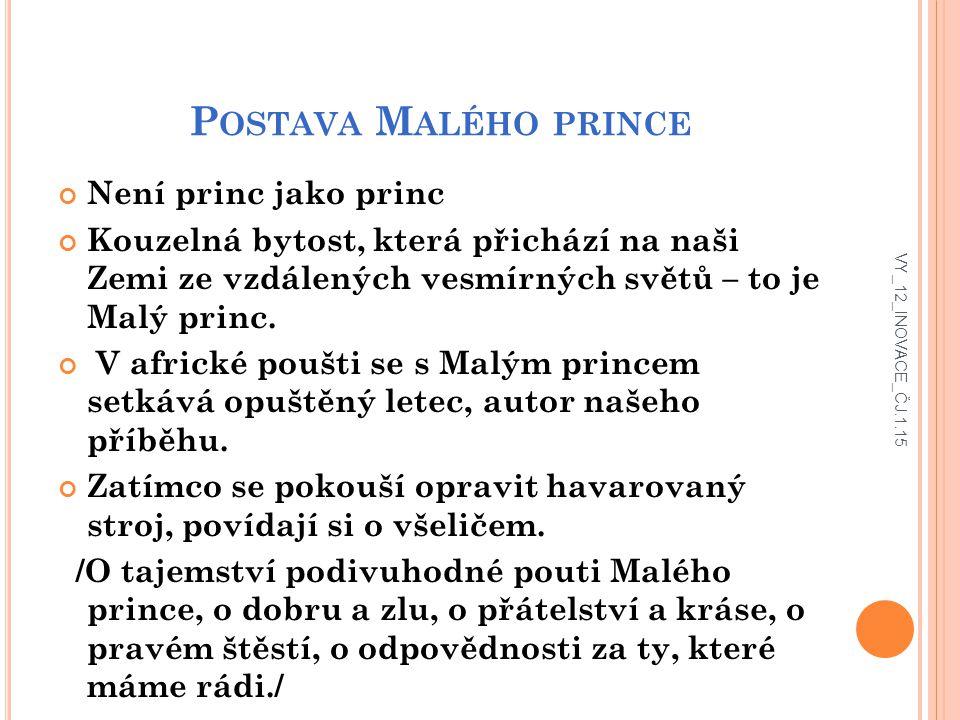 Postava Malého prince Není princ jako princ