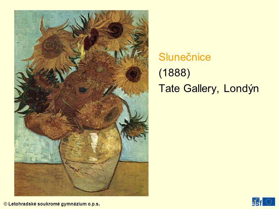 Slunečnice (1888) Tate Gallery, Londýn