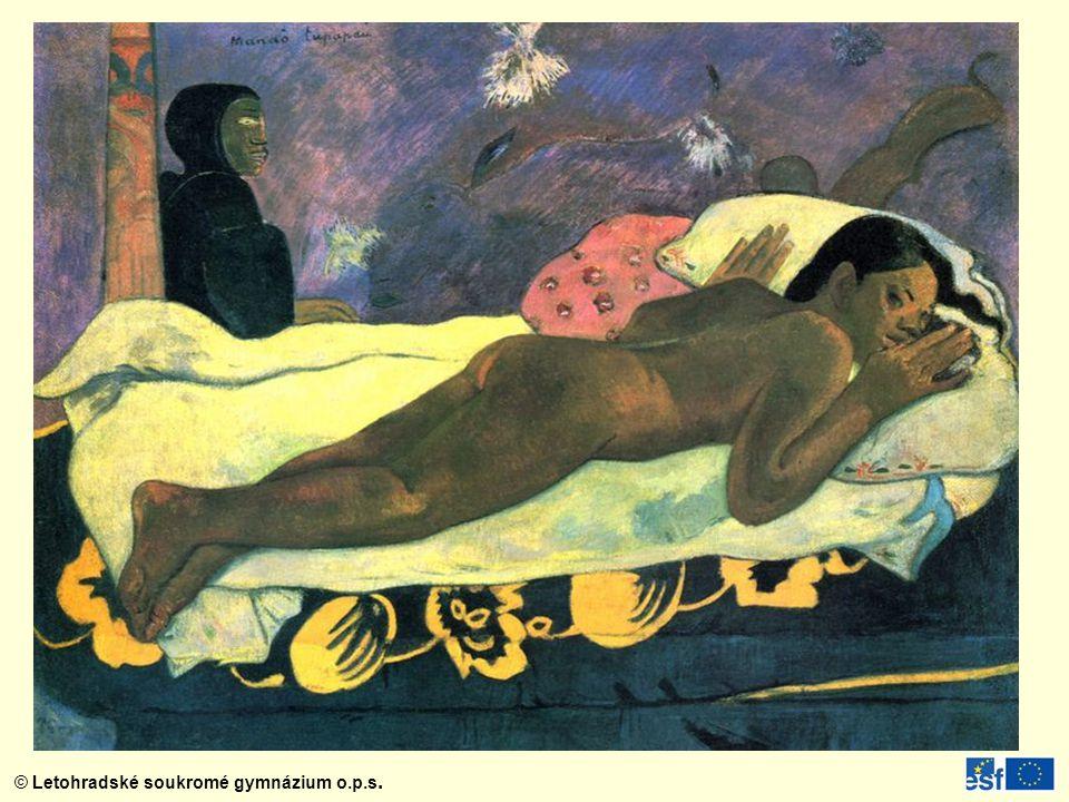 Manao tupapau (Duch mrtvých bdí) z roku 1892 – jedno z malířových nejkontroverznějších pláten