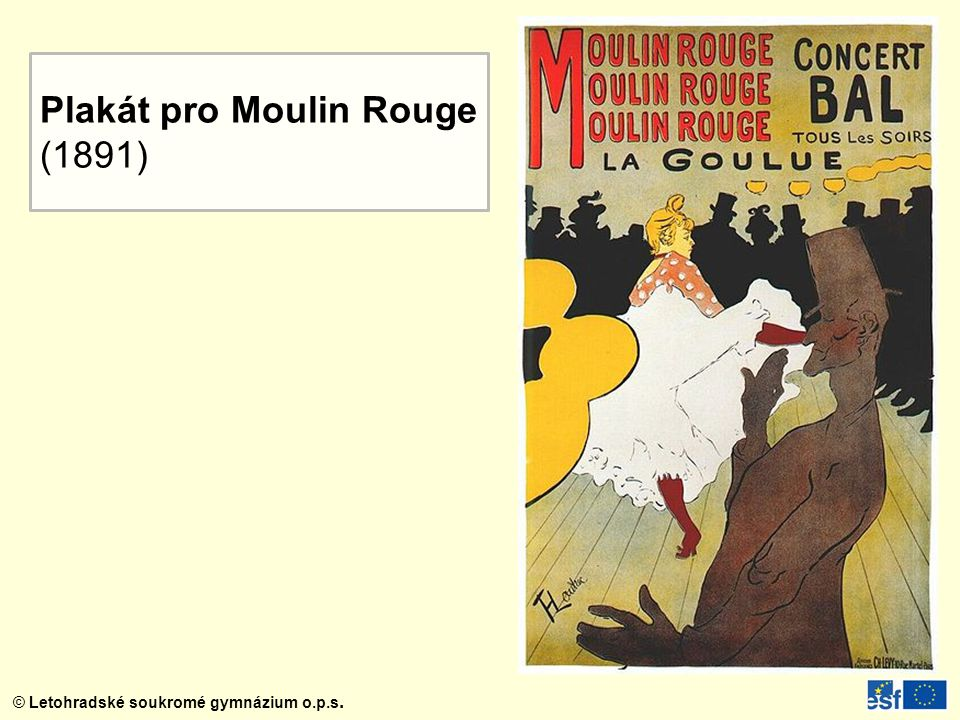 Plakát pro Moulin Rouge
