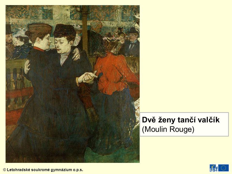 Dvě ženy tančí valčík (Moulin Rouge)