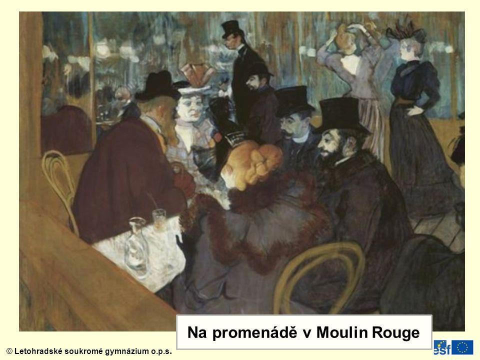 Na promenádě v Moulin Rouge