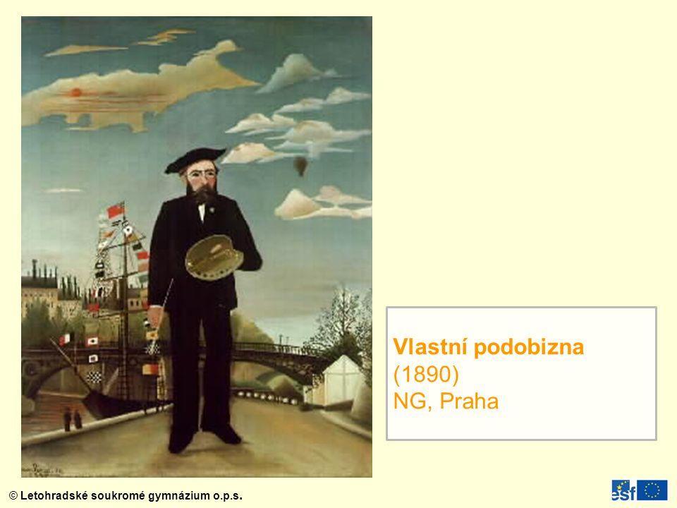 Vlastní podobizna (1890) NG, Praha