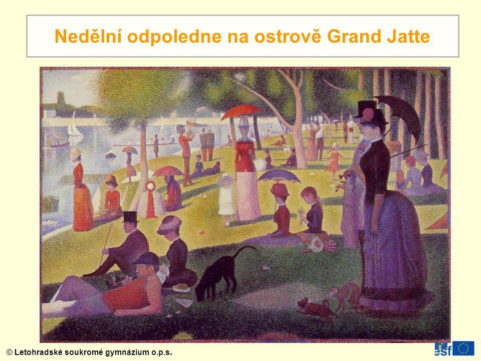 Nedělní odpoledne na ostrově Grand Jatte