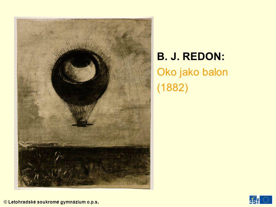 B. J. REDON: Oko jako balon (1882)