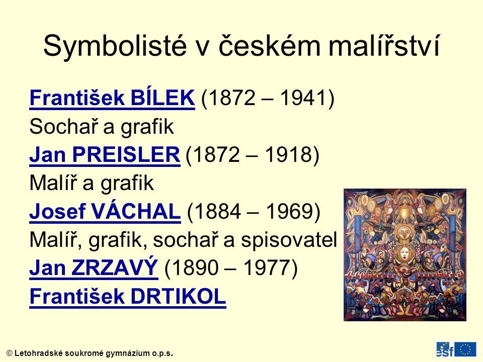 Symbolisté v českém malířství