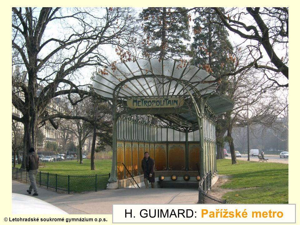H. GUIMARD: Pařížské metro