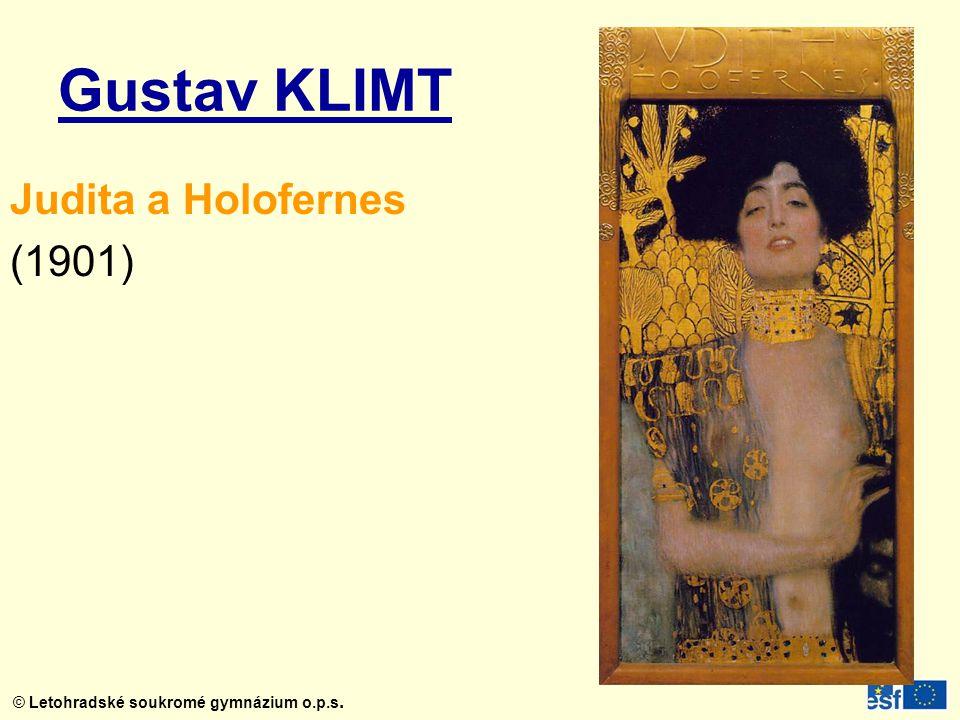 Gustav KLIMT Judita a Holofernes (1901)