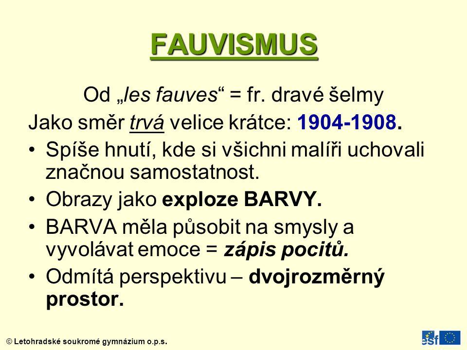 "Od ""les fauves = fr. dravé šelmy"